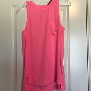 J. Crew tank top blouse with pocket bright pink